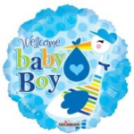 "BABY BOY BALLOON 18""  19729-18"